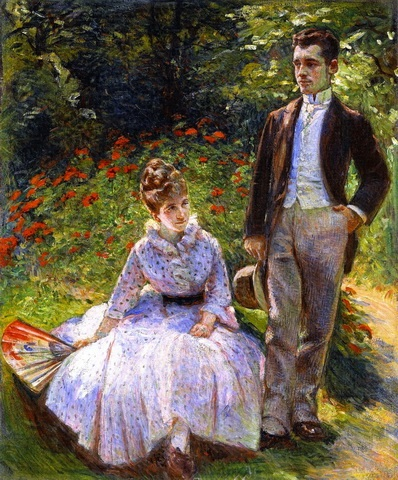 Marie_Bracquemond_The_Artist's_Son_and_Sister_in_the_Garden_at_Sevres