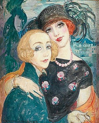 The-Two-Friends-1921-Gerda-Gottlieb-Wegener